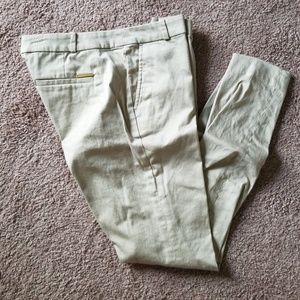 Tan cropped ankle pants